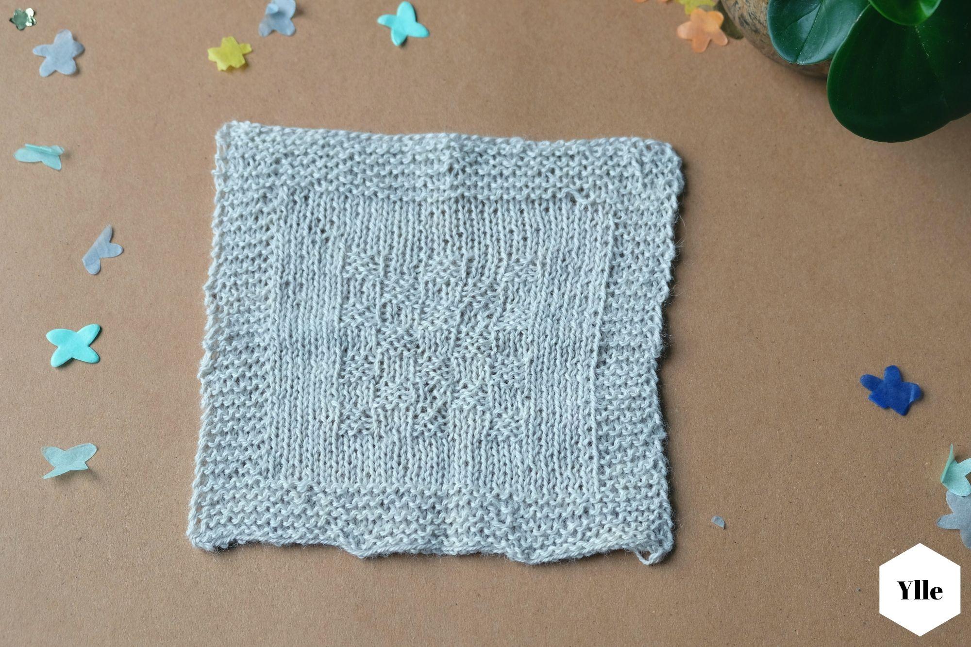 Anleitung rechteckige Babydecke aus Alpaka Wolle stricken