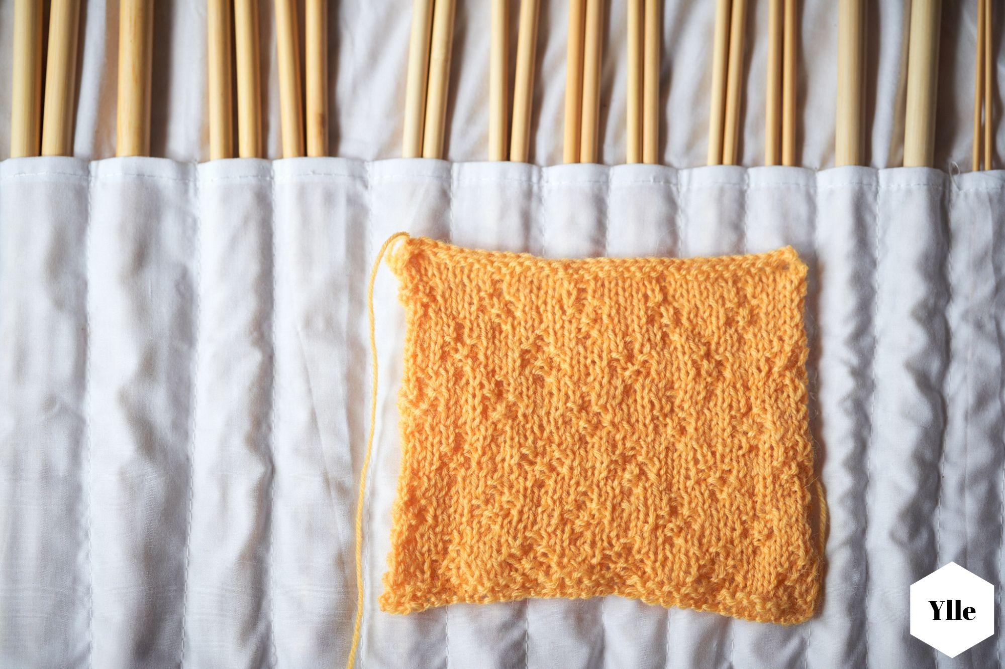 Einfaches Rautenmuster stricken